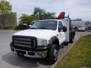 Used 2007 Ford F-550 Flat Deck 7 feet with crane 4WD Dually for sale in Burnaby, BC