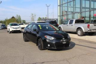 Used 2016 Toyota Corolla S CVT MAIN LIBRE*CAMÉRA for sale in Lévis, QC
