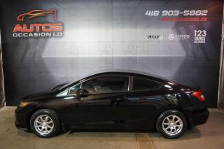 Used 2012 Honda Civic LX COUPE 5 VITESSES FULL ÉQUIPÉ A/C MAGS BLUETOOTH for sale in Lévis, QC