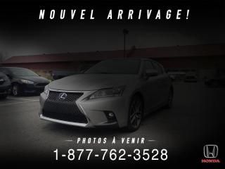 Used 2017 Lexus CT 200h F SPORT + HYBRID + TOIT + CUIR + WOW! for sale in St-Basile-le-Grand, QC