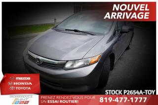 Used 2012 Honda Civic LX| AUTOMATIQUE| CLIMATISATION for sale in Drummondville, QC