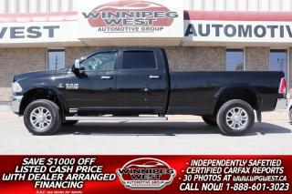 Used 2018 RAM 3500 LARAMIE CREW CUMMINS DIESEL 8FT BOX 4X4,  LOADED for sale in Headingley, MB