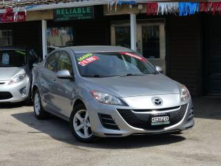 Used 2010 Mazda MAZDA3 LOW KMS,NO-ACCIDENTS,ALLOY RIMS,SHOWROOM CONDITION for sale in Mississauga, ON