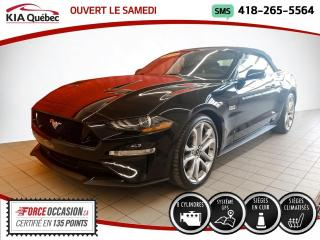 Used 2019 Ford Mustang GT* V8 * CONVERTIBLE* GPS* CUIR* for sale in Québec, QC