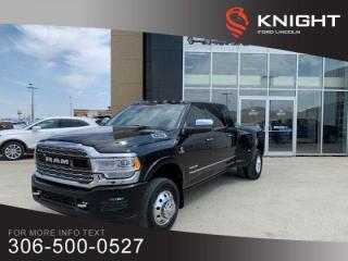 Used 2019 RAM 3500 Limited, MEGA CAB, MSRP $108,510, DUALLY, ONE OWNER!! for sale in Moose Jaw, SK
