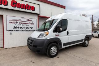 Used 2016 RAM 2500 ProMaster 2500 Hi Roof Cargo Lease / Finance for sale in Winnipeg, MB