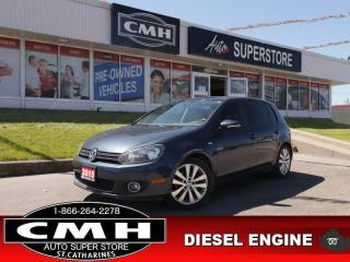 Used 2013 Volkswagen Golf Comfortline  DIESEL ROOF HS BT AUTO for sale in St. Catharines, ON