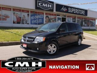 Used 2019 Dodge Grand Caravan Crew  LEATH NAV DVD CAM REAR-AC for sale in St. Catharines, ON