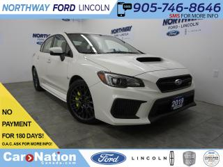 Used 2019 Subaru WRX STI | 6 SPEED | REAR CAM  | AWD | LOW KM'S for sale in Brantford, ON