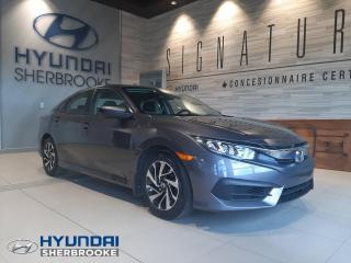 Used 2018 Honda Civic LX BERLINE+MANUELLE+CAMERA+BANCS CHAUFF for sale in Sherbrooke, QC