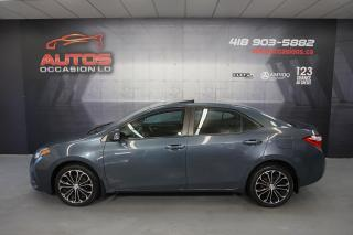 Used 2014 Toyota Corolla S ** SPORT 6 VITESSES CUIR TOIT MAGS BLUETOOTH CAM for sale in Lévis, QC