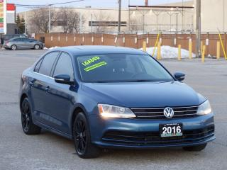 Used 2016 Volkswagen Jetta REAR-CAM,1.4 TSI,BLUETOOTH,HEATED SEAT,NO-ACCIDENT for sale in Mississauga, ON