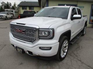 Used 2017 GMC Sierra 1500 LIKE NEW DENALI EDITION 5 PASSENGER 6.2L - V8.. 4X4.. CREW.. SHORTY.. NAVIGATION.. SUNROOF.. LEATHER.. HEATED/AC SEATS.. POWER PEDALS.. BLUETOOTH.. for sale in Bradford, ON