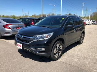 Used 2016 Honda CR-V Touring GPS NAVIGATION | POWER SUNROOF | LEATHER INTERIOR for sale in Cambridge, ON