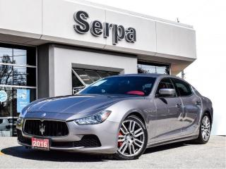 Used 2016 Maserati Ghibli S Q4 |NAV|PANOROOF|REDLEATHER|404HP|AWD| for sale in Toronto, ON