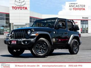 Used 2018 Jeep Wrangler Sport SPORT | SOFT TOP CONVERTIBLE | MANUAL for sale in Ancaster, ON