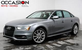 Used 2015 Audi A4 Progressiv+ NAVI+TOIT.OUVRANT+CAM.RECUL for sale in Boisbriand, QC