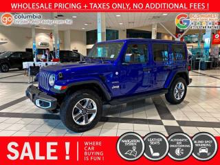 Used 2019 Jeep Wrangler Unlimited Sahara - Nav / Leather / Local for sale in Richmond, BC