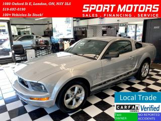Used 2008 Ford Mustang V6+Leather+Heated Seats+Automatic+Accident Free for sale in London, ON