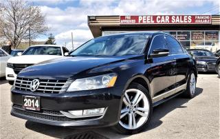 Used 2014 Volkswagen Passat 1.8T SEL Premium AT | CERTIFED| VIDEO.CALL.US| NAVI| REARVIEW| SUNROOF| TINTS| REMOTE START| for sale in Mississauga, ON