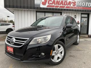 Used 2011 Volkswagen Tiguan SPORT | MANUAL | TOUCH SCREEN NAVIGATION | SUN/MOO for sale in Barrie, ON