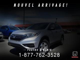 Used 2016 Honda CR-V LX + CAMERA + SIEGES CHAUFF + WOW! for sale in St-Basile-le-Grand, QC