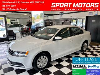 Used 2016 Volkswagen Jetta Trendline+Camera+New Tires+Accident Free for sale in London, ON