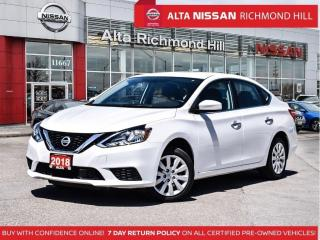 Used 2018 Nissan Sentra S   Remote Keyless Entry   Bluetooth    AC for sale in Richmond Hill, ON