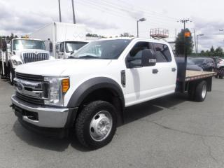 Used 2017 Ford F-550 Crew Cab DRW 4WD 11 Foot Flat Deck for sale in Burnaby, BC
