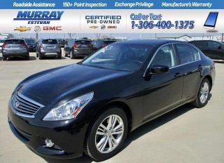 Used 2011 Infiniti G37 Sedan X AWD/ HEATED LEATHER/ SUNROOF/ SINGLE OWNER/ LOW for sale in Estevan, SK