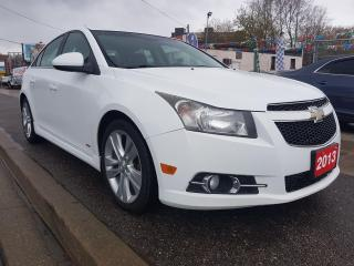 Used 2013 Chevrolet Cruze LT Turbo-LEATHER-BK UP CAM-BLUETOOTH-AUX-USB-ALLOY for sale in Scarborough, ON