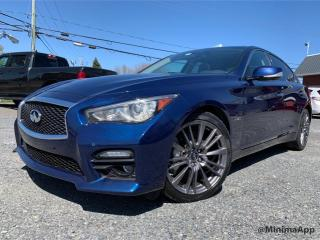 Used 2016 Infiniti Q50 Red Sport 400hp awd for sale in Drummondville, QC