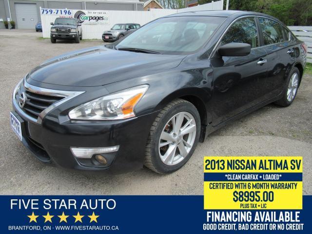 2013 Nissan Altima SV *Clean Carfax* Certified w/ 6 Month Warranty
