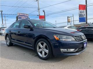 Used 2013 Volkswagen Passat Comfortline DSG | Leather, Heated Seats, Roof, Blu for sale in Caledonia, ON