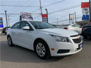 Used 2013 Chevrolet Cruze LT Turbo, low, low K's, economical and sporty for sale in Caledonia, ON