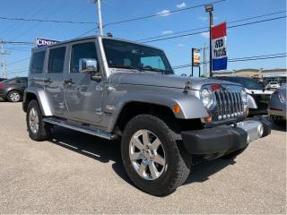 Used 2013 Jeep Wrangler Unlimited Sahara 4x4 | 6 spd, 2 tops, heated seats for sale in Caledonia, ON
