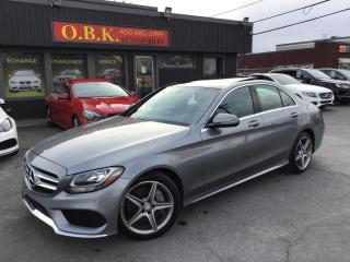 Used 2016 Mercedes-Benz C-Class C 300 4MATIC-NAVIGATION-CAME RECUL-TOIT PANO for sale in Laval, QC