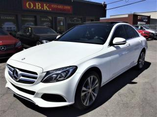 Used 2016 Mercedes-Benz C 300 C300-4MATIC-NAVIGAT-TOIT PANO-CAM RECUL-BLUETOOTH for sale in Laval, QC