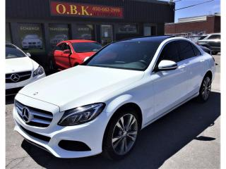 Used 2016 Mercedes-Benz C 300 C 300-4MATIC-NAVIGAT-CAM RECUL-TOIT PANO-BLUETOOTH for sale in Laval, QC