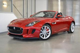 Used 2014 Jaguar F-Type S *380HP + BAS MILAGE + SIEGES PERFROMANCE* for sale in Laval, QC