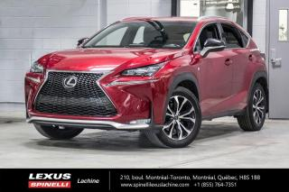 Used 2017 Lexus NX 200t F SPORT II AWD; CUIR TOIT GPS ANGLES MORT MAGS NAVIGATION - MONITEUR ANGLES MORTS - CAMÉRA DE RECUL - SUSPENSION SPORT for sale in Lachine, QC