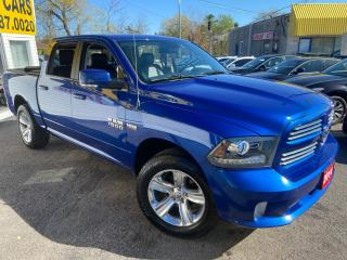 Used 2014 RAM 1500 SPORT/ CREW CAB/ 4X4/ LEATHER/ ALLOYS/ TINTED! for sale in Scarborough, ON