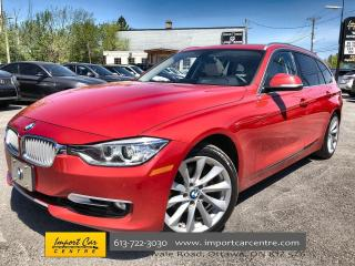 Used 2014 BMW 328 i xDrive Touring ONLY 84KKMS  LEATHER  PANO ROOF for sale in Ottawa, ON