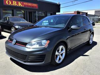 Used 2016 Volkswagen Golf GTI MANUELLE-GTI-APPLE CARPLAY-CAM RECUL-BLUETOOTH for sale in Laval, QC