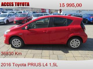 Used 2016 Toyota Prius BAS KM for sale in Rouyn-Noranda, QC
