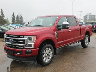 New 2020 Ford F-350 Super Duty SRW Platinum 4x4, DIESEL, Heated Cooled Leather Seats/Steerig, Sunroof, Navigation, LOADED LUXURY! for sale in Edmonton, AB