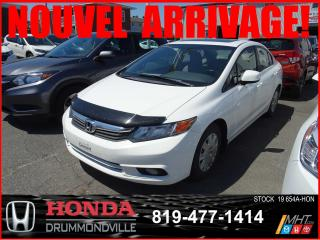 Used 2012 Honda Civic EX+TOITOUV+A/C+BLUETOOTH+REGVIT for sale in Drummondville, QC