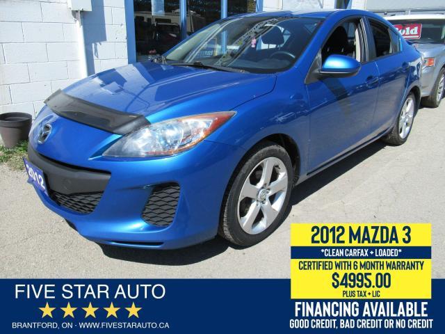 2012 Mazda MAZDA3 GS-SKY *Clean Carfax* Certified + 6 Month Warranty