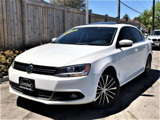 Used 2014 Volkswagen Jetta TDI HIGHLINE-LEATHER-NAVI-SUNROOF-CAMERA-DIESEL for sale in Toronto, ON