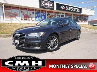 Used 2016 Audi A6 3.0T quattro Technik  NAV ROOF P/SEATS PREM-AUDIO for sale in St. Catharines, ON